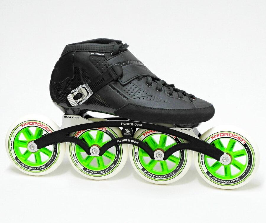 Černé speedové kolečkové brusle Rollerblade - velikost 42,5 EU