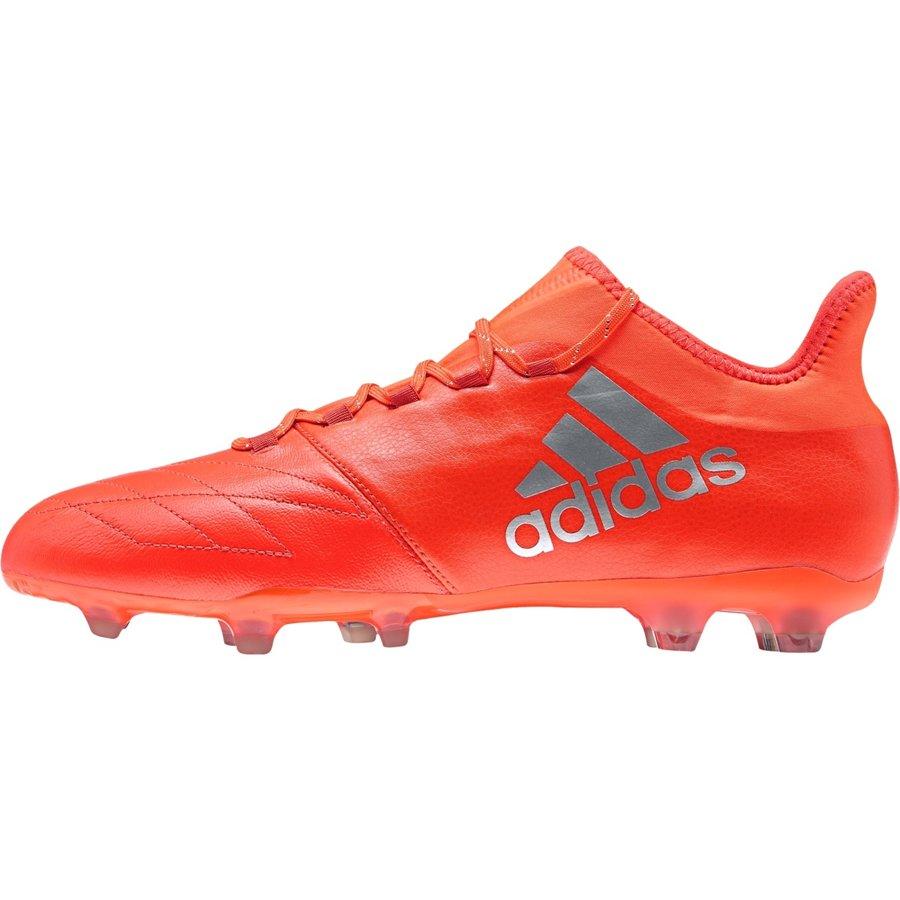 Oranžové kopačky lisovky X 16.2 FG Leather, Adidas - velikost 42 EU