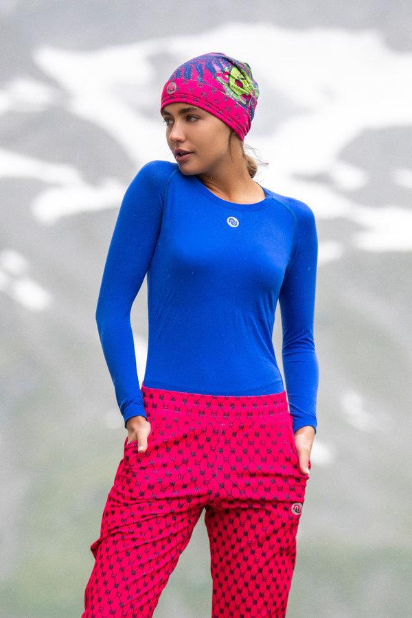 Běžecké tričko - Nessi Prodyšné Ultra Light Tričko s dlouhým rukávem BLD50 - Blue Velikost: XS/S