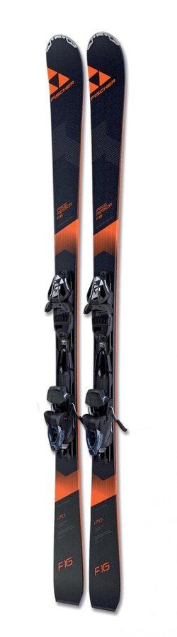 Černé lyže s vázáním Fischer