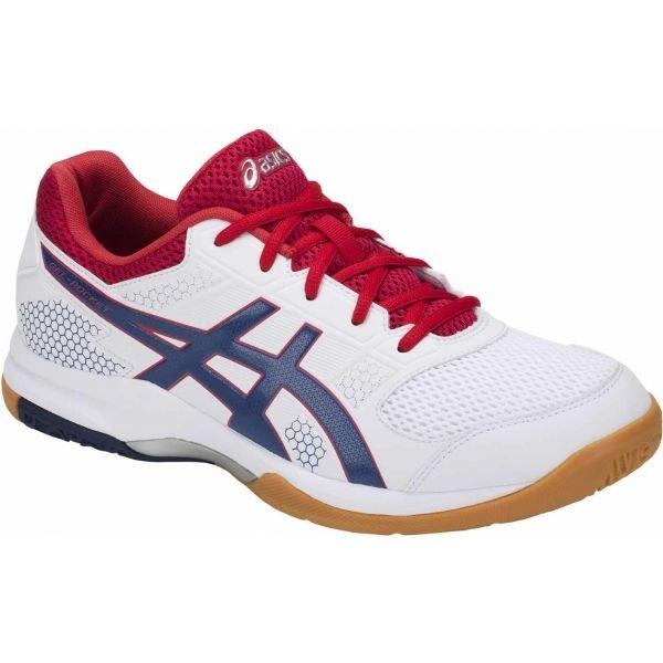 Bílé pánské boty na volejbal Asics - velikost 45 EU