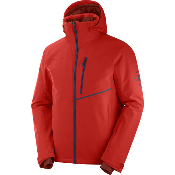 Červená pánská lyžařská bunda Salomon