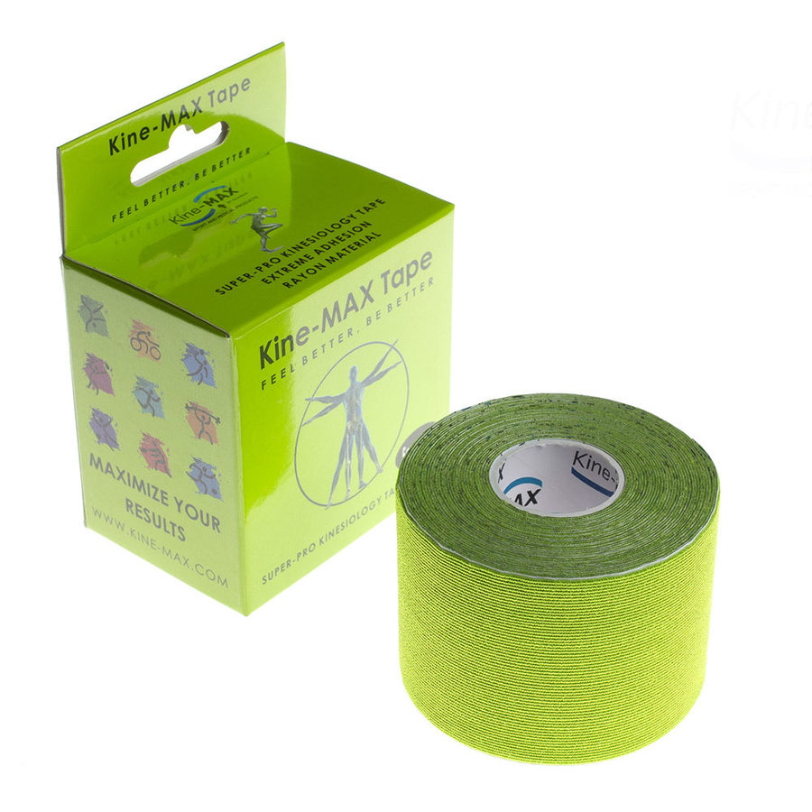 Zelená tejpovací páska kine-max - délka 5 m a šířka 5 cm