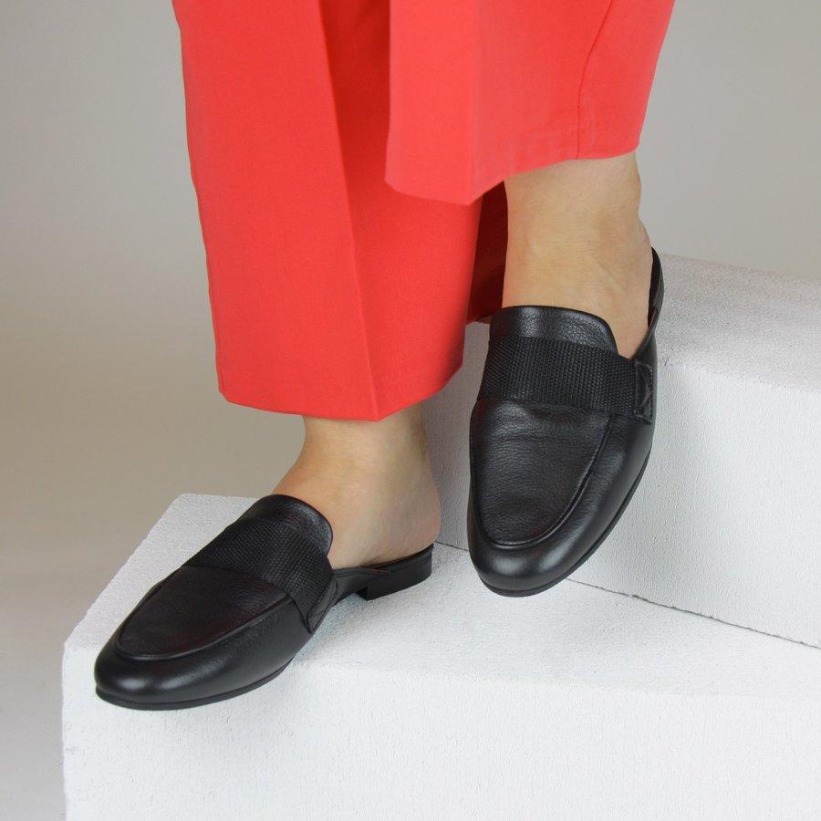 Černé dámské pantofle Selected Femme - velikost 39 EU