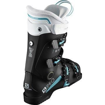 Bílo-černé dámské lyžařské boty Salomon - velikost vnitřní stélky 26 cm