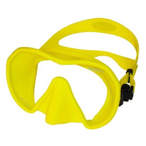 Žlutá potápěčská maska Maxlux S, Beuchat