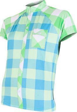 Modro-zelený dámský cyklistický dres Sensor