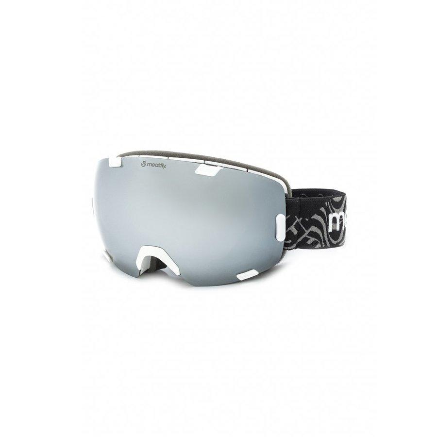 Brýle na snowboard - Meatfly Scout 4 Goggles B - White Velikost: JEDNOTNÁ VELIKOST