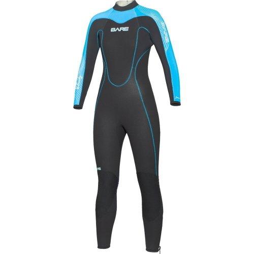 Modrý dámský neoprenový oblek Velocity Full 5/4 Lady, Bare - velikost 8 a tloušťka 5 mm