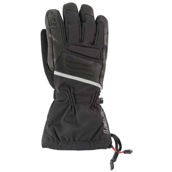 Černé pánské zimní rukavice s vyhříváním Lenz - velikost 10