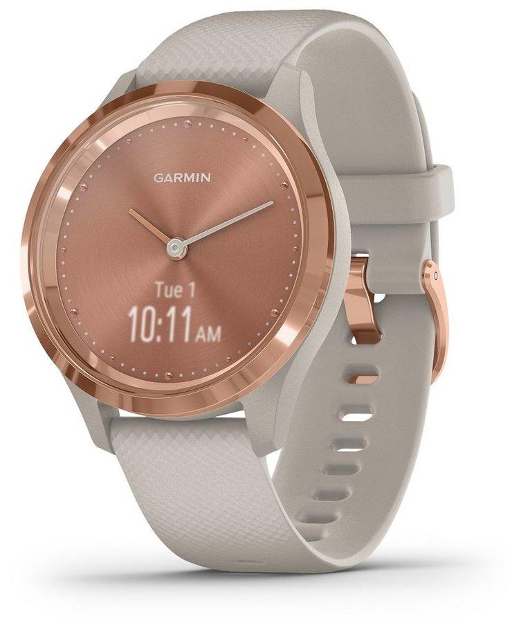 Bílo-růžové analogové chytré hodinky vivomove 3S, Garmin