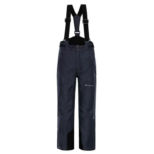 Šedé dětské lyžařské kalhoty Alpine Pro - velikost 116-122