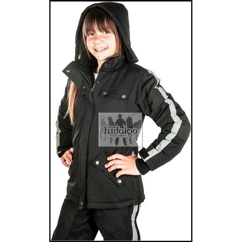 Černá jezdecká bunda Edmonton, HKM