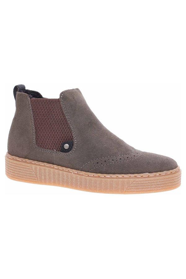 Šedé dámské zimní boty RIEKER