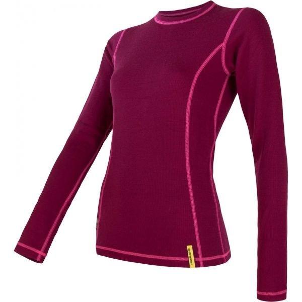 Červené dámské funkční tričko s dlouhým rukávem Sensor - velikost S