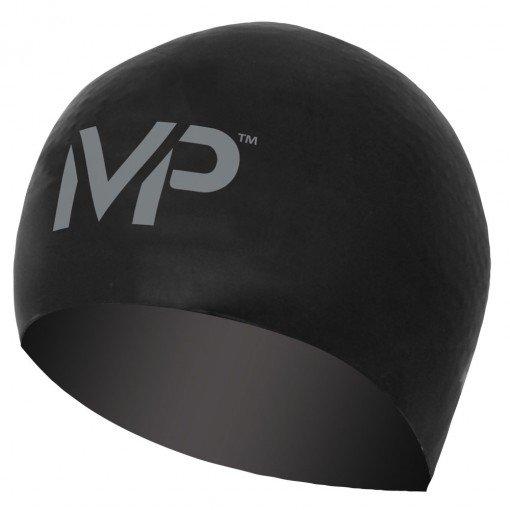 Černo-stříbrná dámská nebo pánská plavecká čepice Race Cap, Michael Phelps