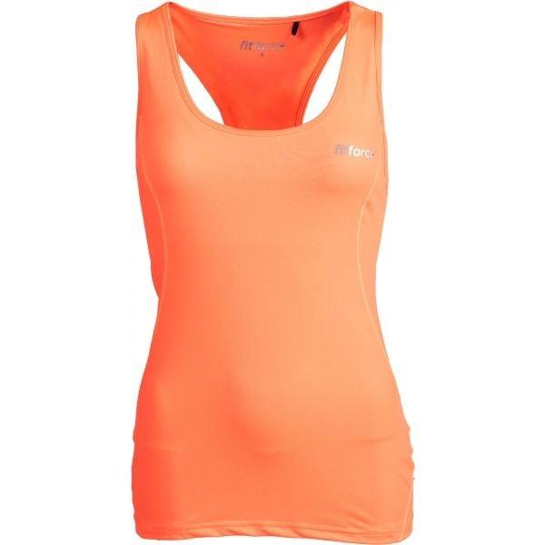 Oranžové dámské tílko Fitforce - velikost XS
