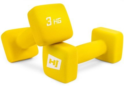 Jednoruční činka Hop-Sport - 3 kg - 2 ks