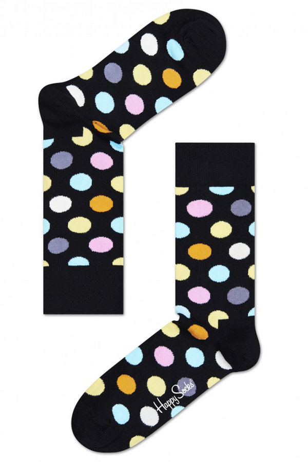 Ponožky - Happy Socks černé ponožky Big Dot - 41-46