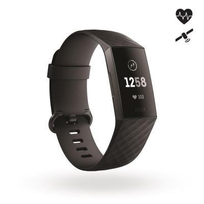Černý fitness náramek Charge 3, Fitbit