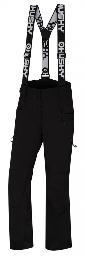 Černé dámské lyžařské kalhoty Husky