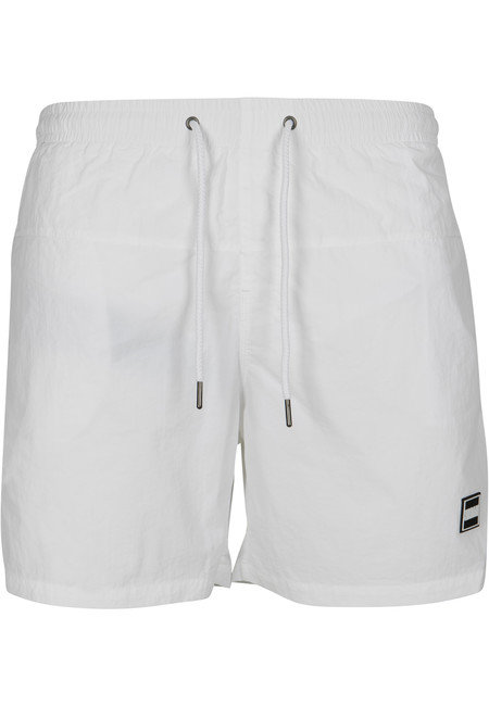 Urban Classics Block Swim Shorts white - XL