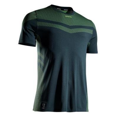 Khaki pánské tenisové tričko Artengo - velikost L