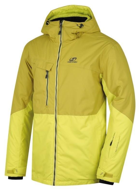 Zeleno-žlutá pánská lyžařská bunda Hannah