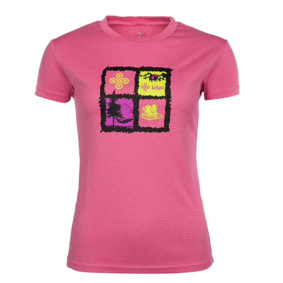 Růžové dámské funkční tričko s krátkým rukávem Kilpi