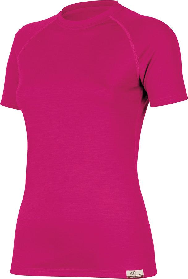 Růžové dámské tričko s krátkým rukávem Lasting - velikost XL