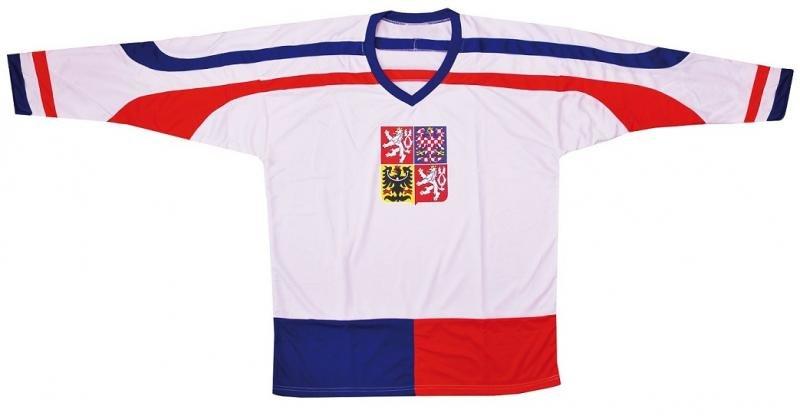 Hokejový dres - Hokejový dres ČR 2 Hokejový dres ČR 2, bílý, vel. XL