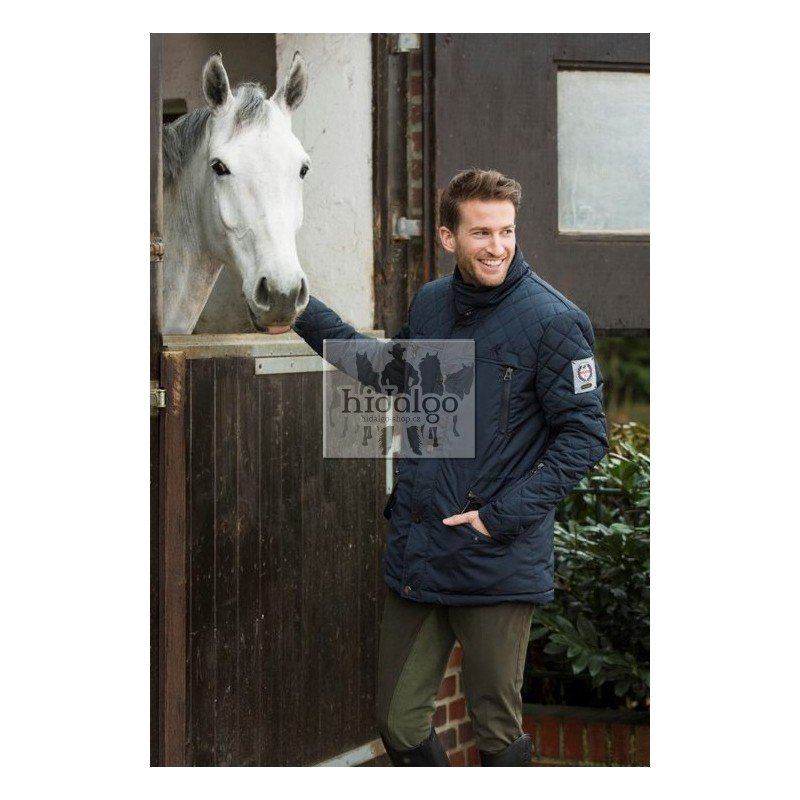 Modrá pánská jezdecká bunda s límečkem Kingston, HKM - velikost S