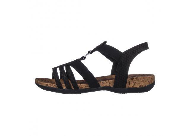 Černé sandály Rieker