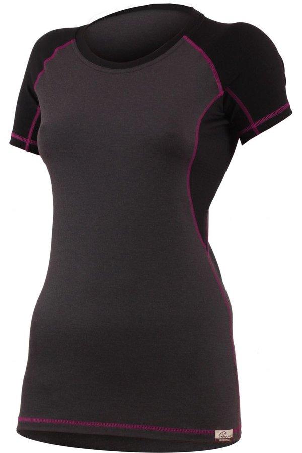 Šedé dámské tričko s krátkým rukávem Lasting - velikost XS