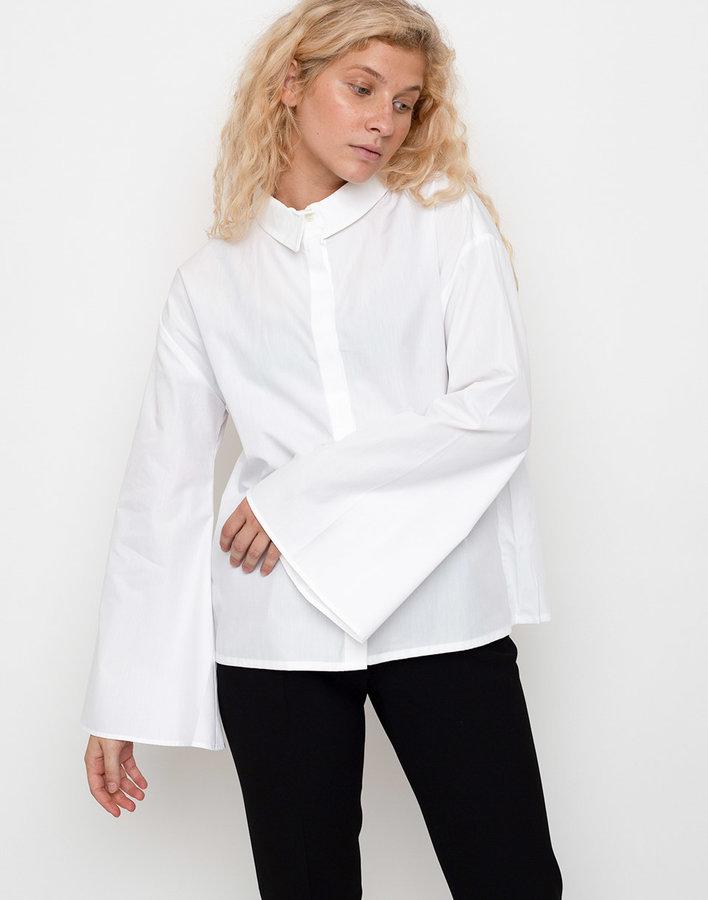 Bílá dámská košile s dlouhým rukávem Jan 'N June