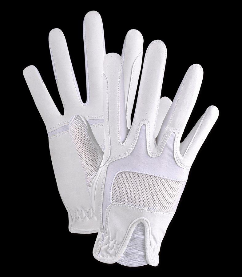 Bílé jezdecké rukavice NIKA, ELT