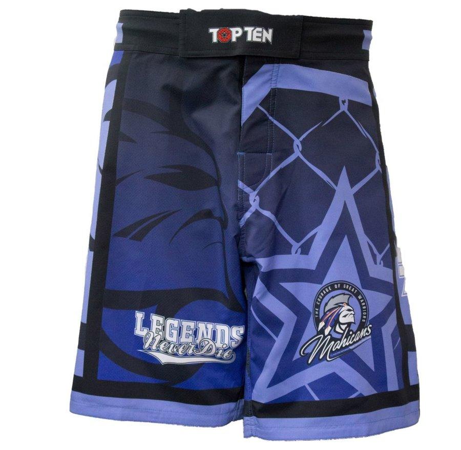 Modré MMA kraťasy Top Ten