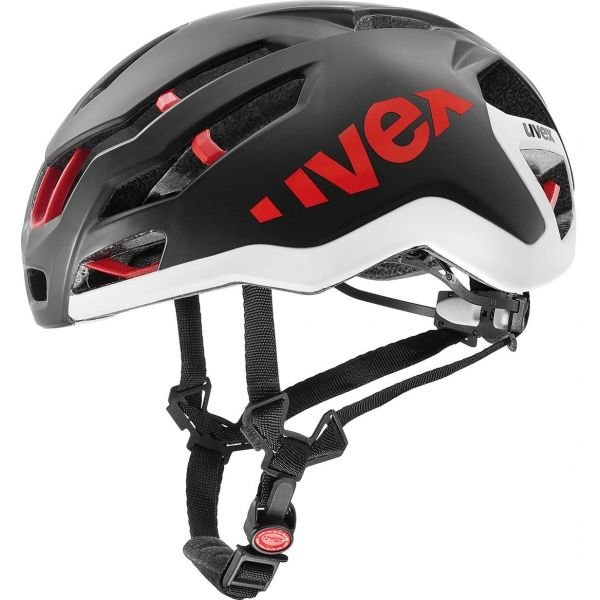Bílo-černá cyklistická helma Uvex - velikost 58-61 cm