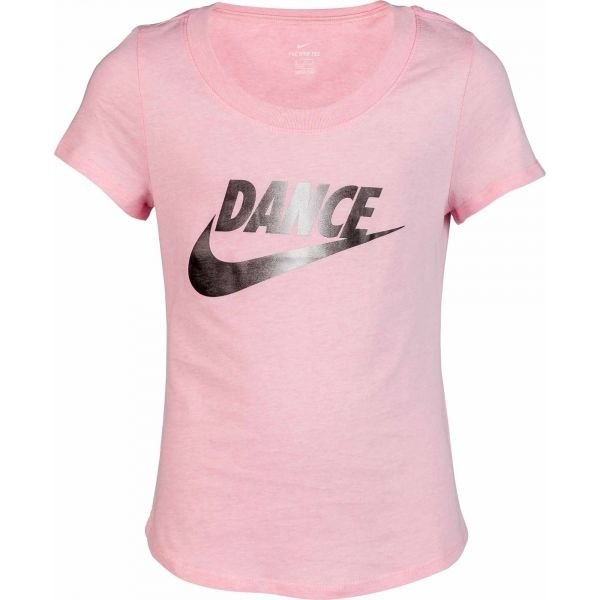Růžové dívčí tričko s krátkým rukávem Nike - velikost M