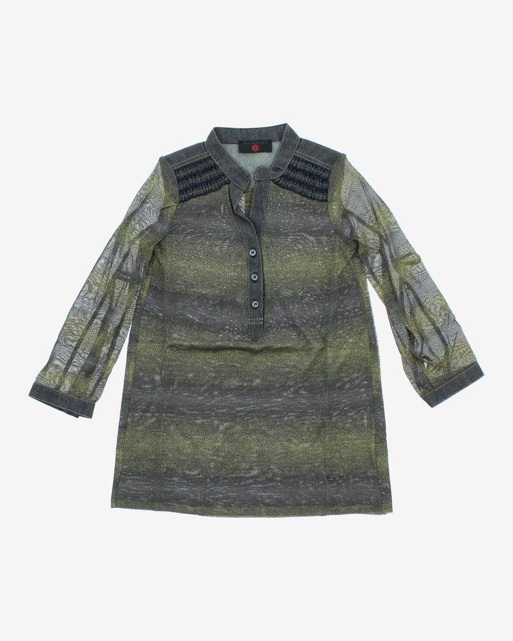 Šedo-zelené dívčí šaty John Richmond
