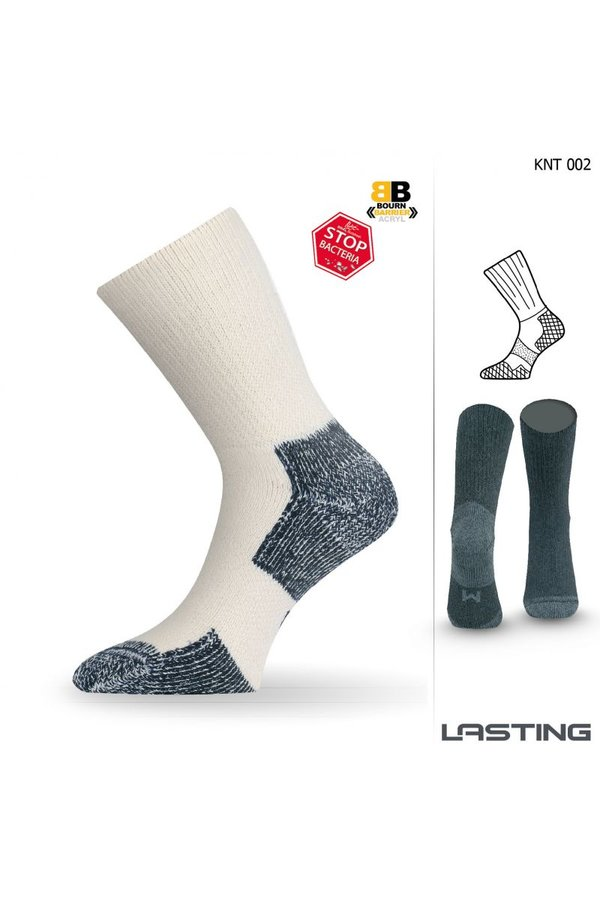 Bílé pánské trekové ponožky Lasting