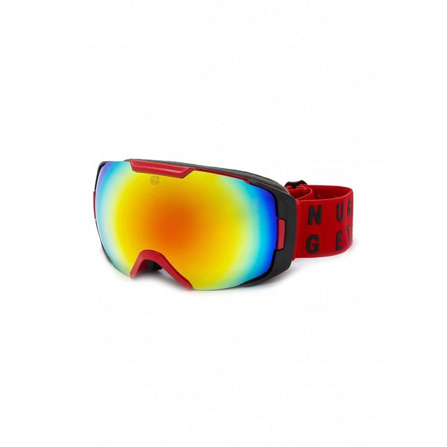 Červené brýle na snowboard Nugget