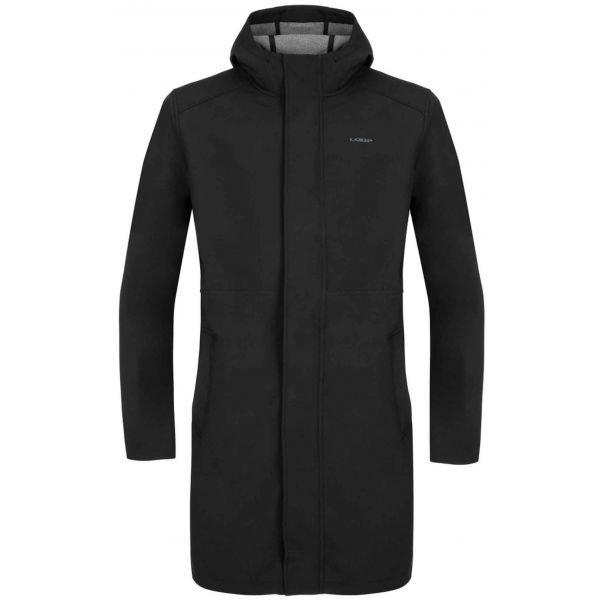 Černý softshellový pánský kabát Loap