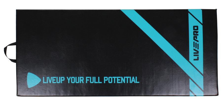 Černá podložka na cvičení LivePro - tloušťka 2,5 cm
