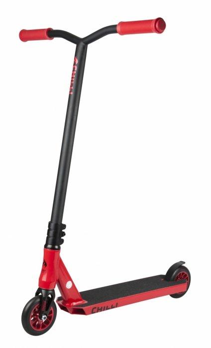 Černo-červená koloběžka Chilli
