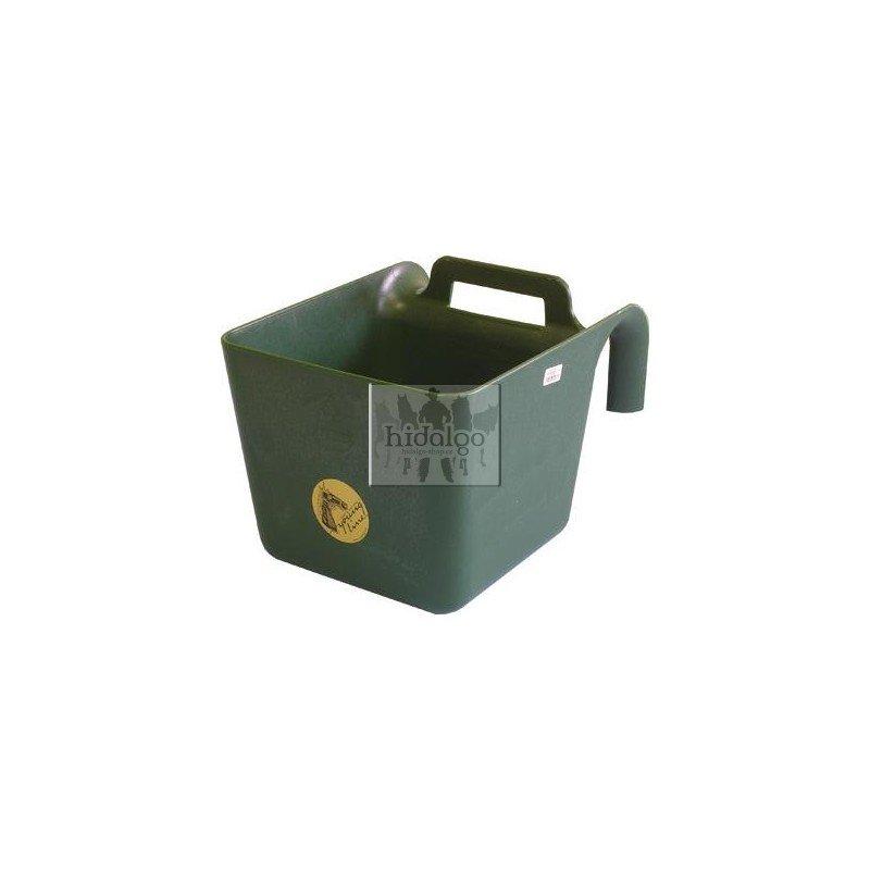 Zelený plastový závěsný žlab - objem 11 l