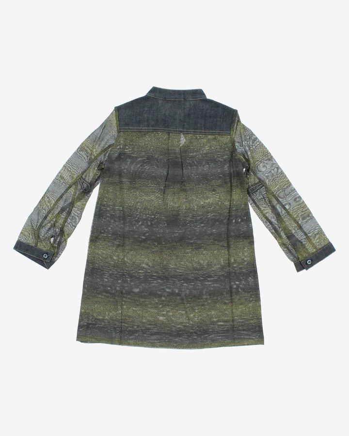 Šedo-zelené dívčí šaty John Richmond - velikost 128