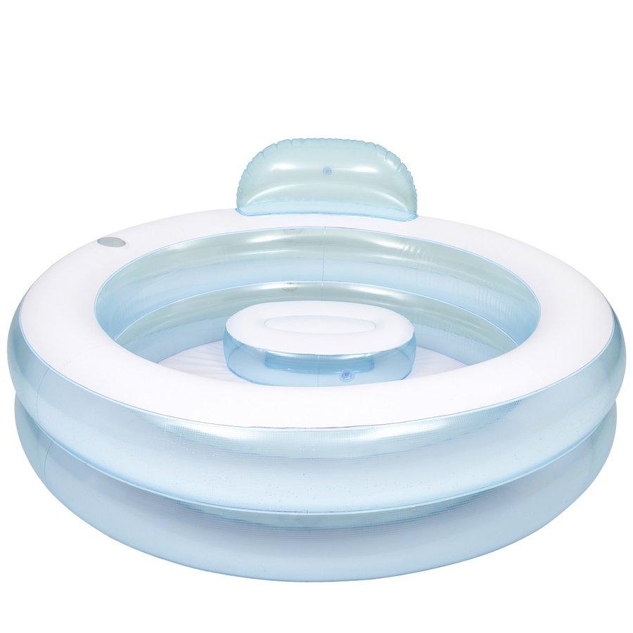 Transparentní nafukovací kruhový bazén MASTER POOL - průměr 152 cm a výška 62 cm