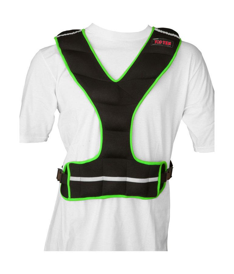 Černo-zelená zátěžová vesta Top Ten - 5 kg