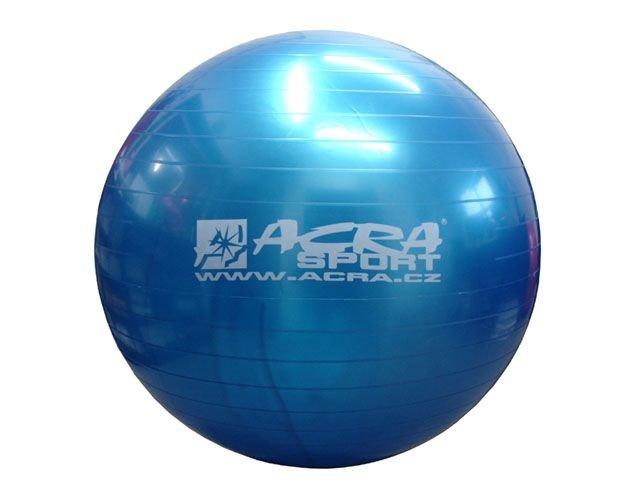 Modrý gymnastický míč